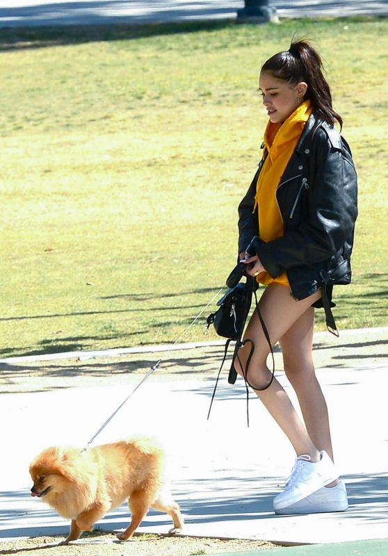 Madison Beer - Goes to the Dog Park With Her Pomeranian Pup in LA