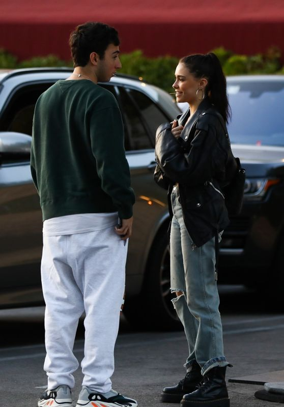 Madison Beer With Her Boyfriend Zack Bia in Los Angeles 04/03/2018