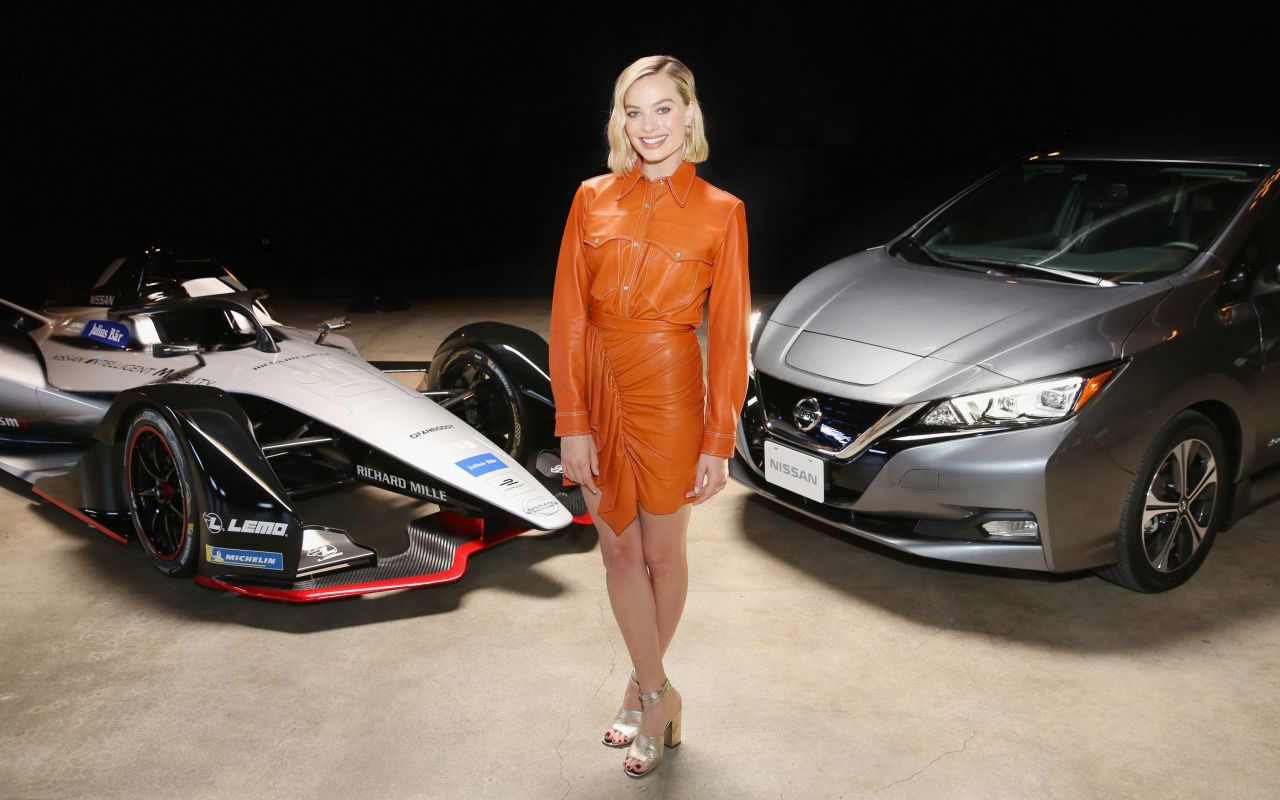 Nissan Los Angeles >> Margot Robbie Nissan Formula E Launch Tour In Los Angeles 04 16 2018
