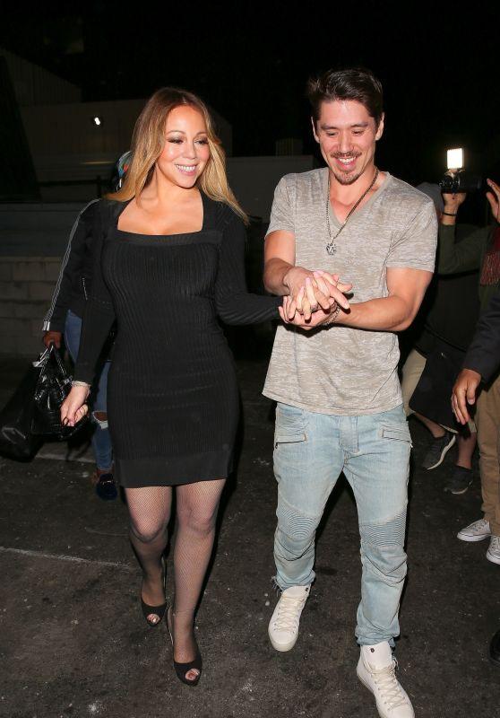 Mariah Carey - Leaving Mastros Restaurant in Beverly Hills 04/24/2018
