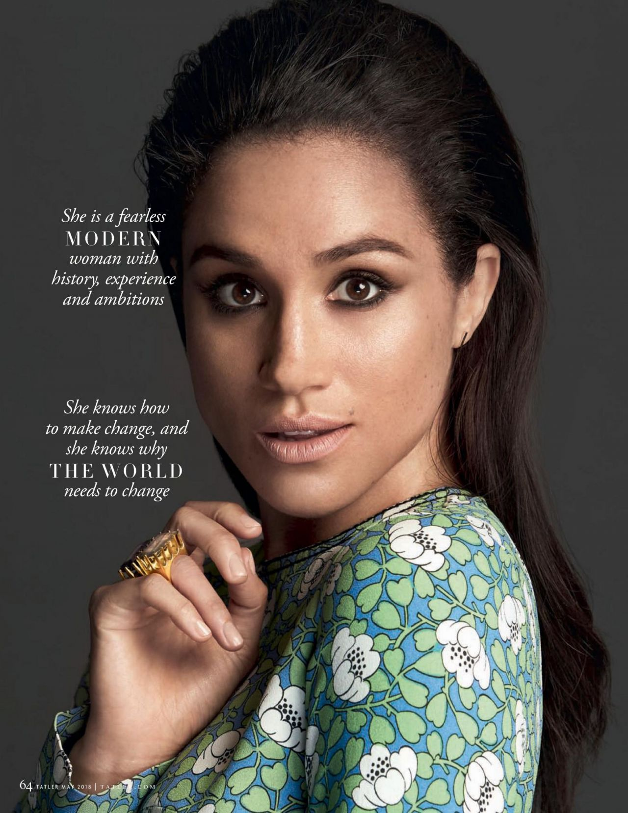Meghan Markle Tatler Magazine Uk May 2018 Issue