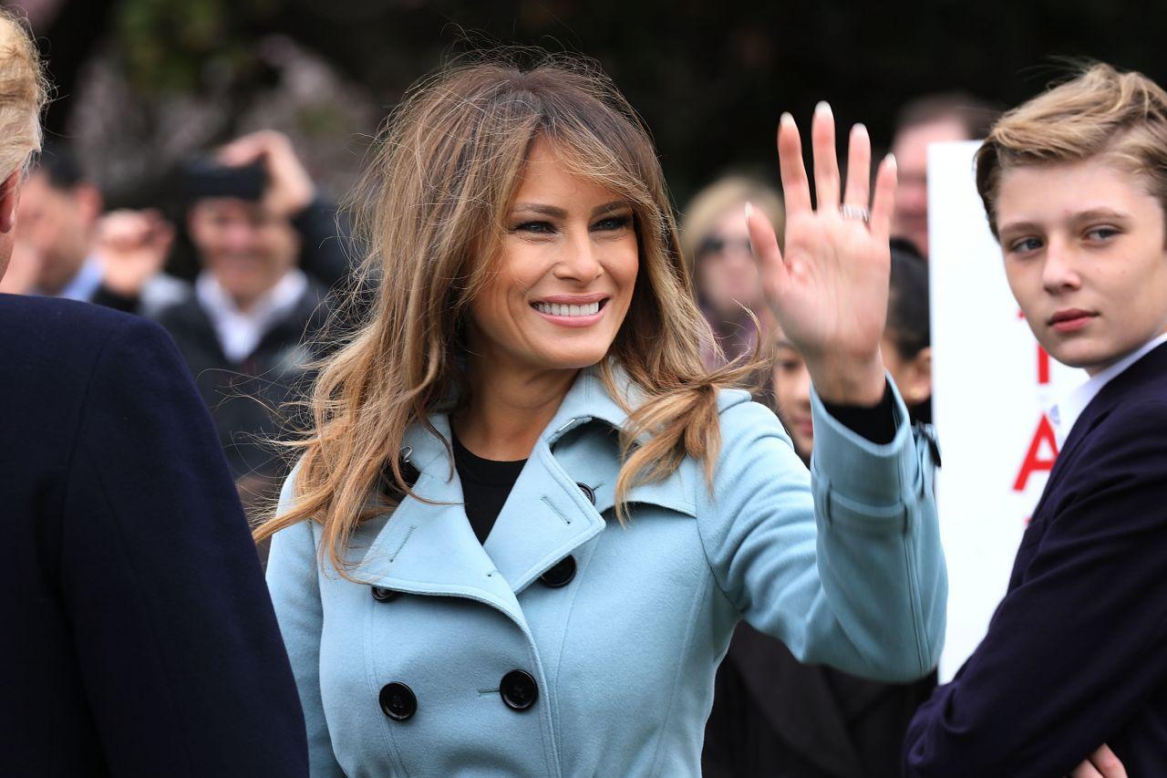 Melania Trump 140th White House Easter Egg Roll In