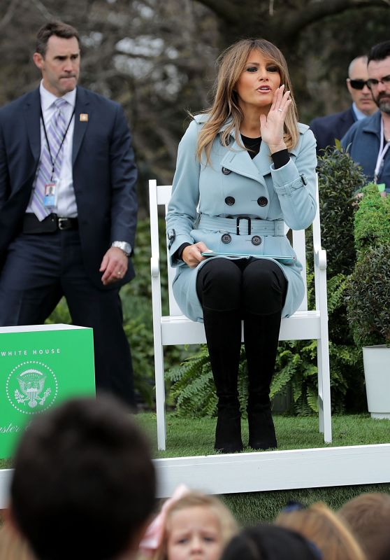 Melania Trump - 140th White House Easter Egg Roll in Washington DC 04/02/2018