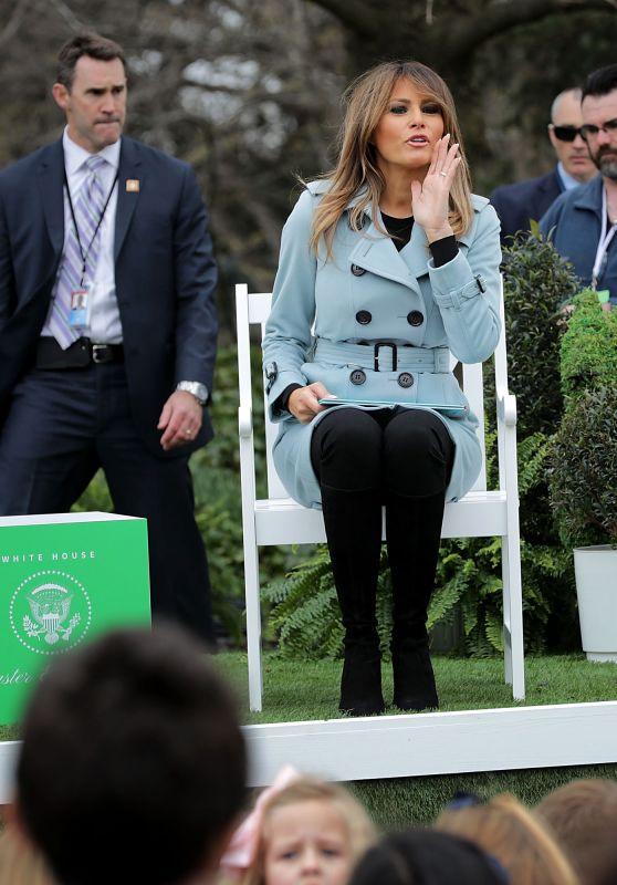 Melania Trump - 140th White House Easter Egg Roll in Washington DC 04/02/2018