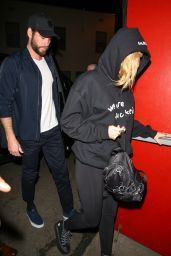 Miley Cyrus and Liam Hemsworth - Come To Watch Noah Cyrus Preform at The Troubadour in LA