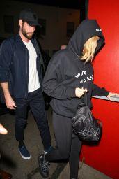 Miley Cyrus and Liam Hemsworth - Come To Watch Noah Cyrus Preform at The Troubadour in LA