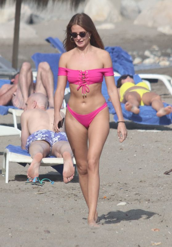 Millie Mackintosh in Bikini on the Beach in Her Bikini in Marbella 04/24/2018
