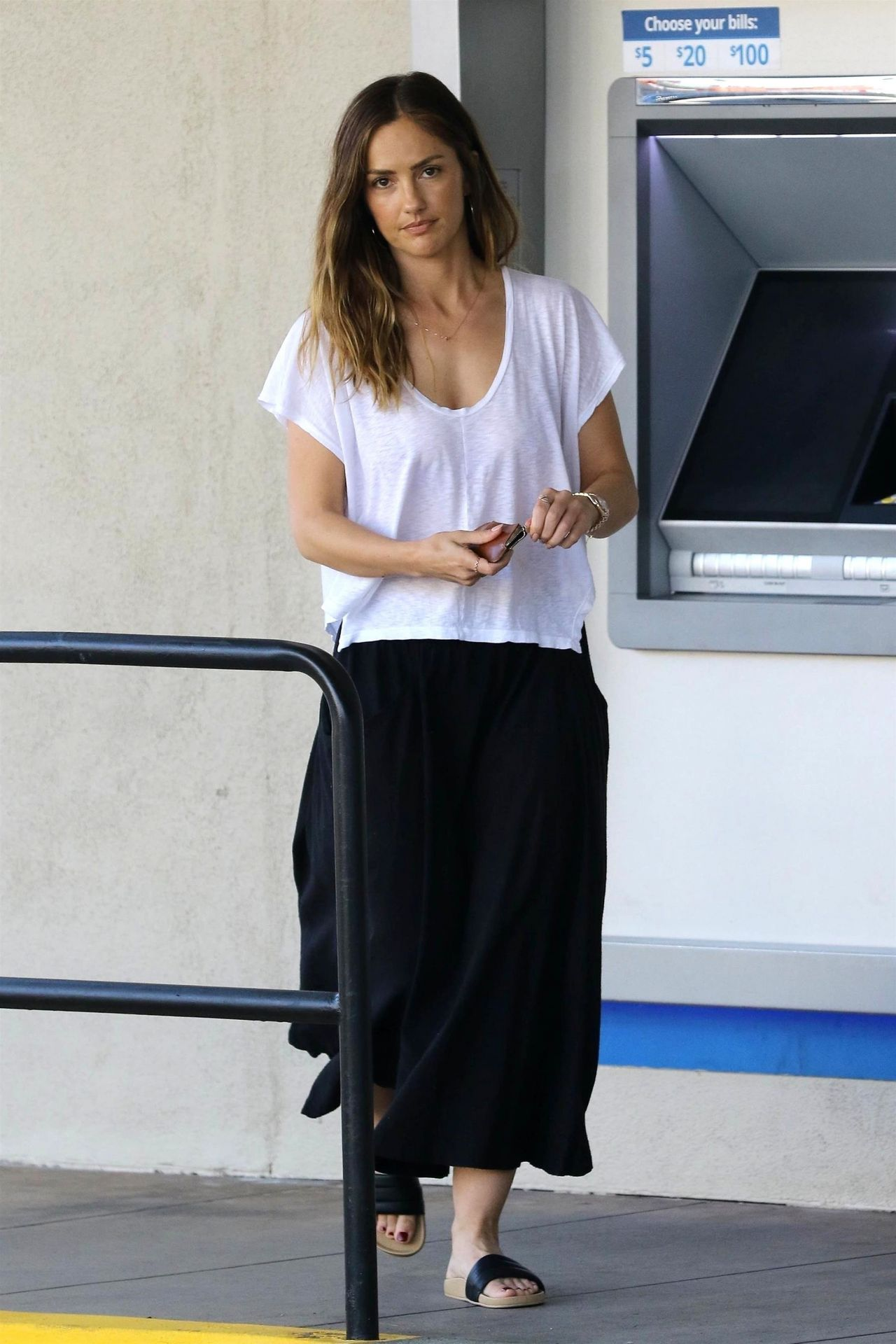 Minka Kelly Taking Her Dog To The Pet Salon In Los