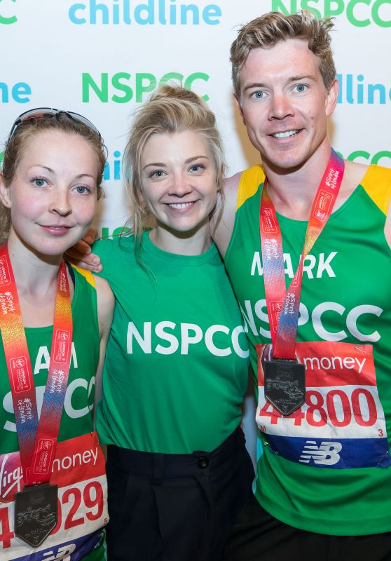 Natalie Dormer - Supporting the NSPCCA, London Marathon 2018
