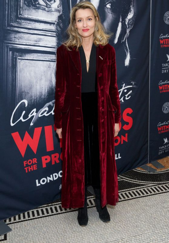 """Natascha McElhone - """"Witness for the Prosecution by Agatha Christie"""" Play at London County Hall"""