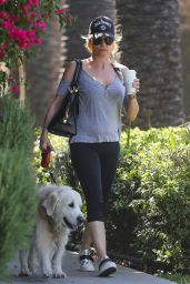 Nicollette Sheridan - Takes Her Dog For a Walk in Calabasas 04/14/2018