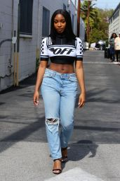 Normani Kordei Street Style - Leaving the Recording Studio in LA, April 2018