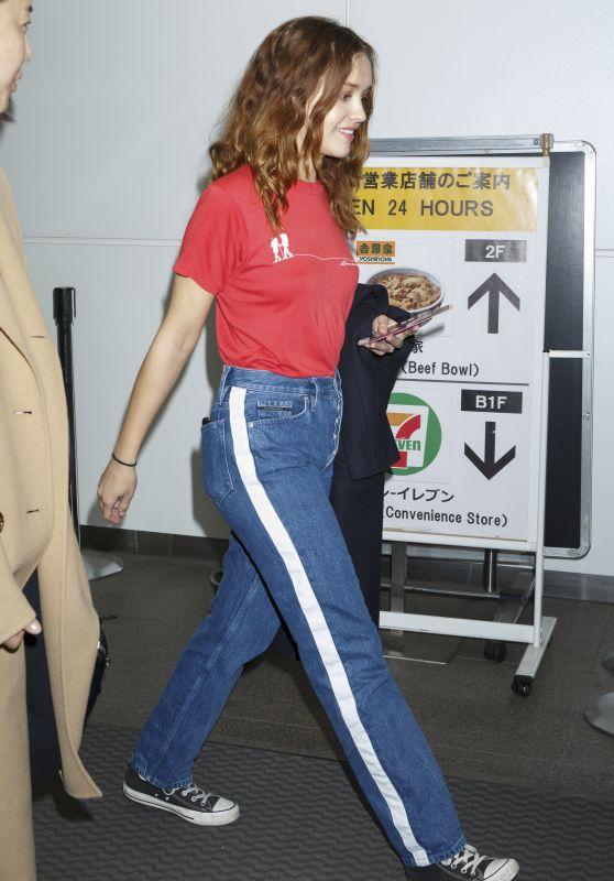 Olivia Cooke at Narita International Airport in Tokyo 04/17/2018