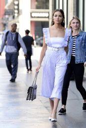 Olivia Culpo Fashion Style - Leaving The Pie Hole Gourmet Pie & Coffee Shop in LA