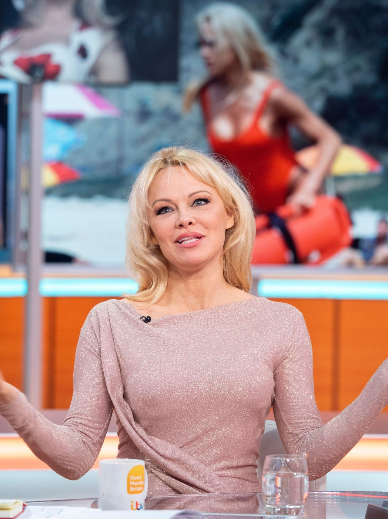 "Pamela Anderson - ""Good Morning Britain"" TV Show in London"