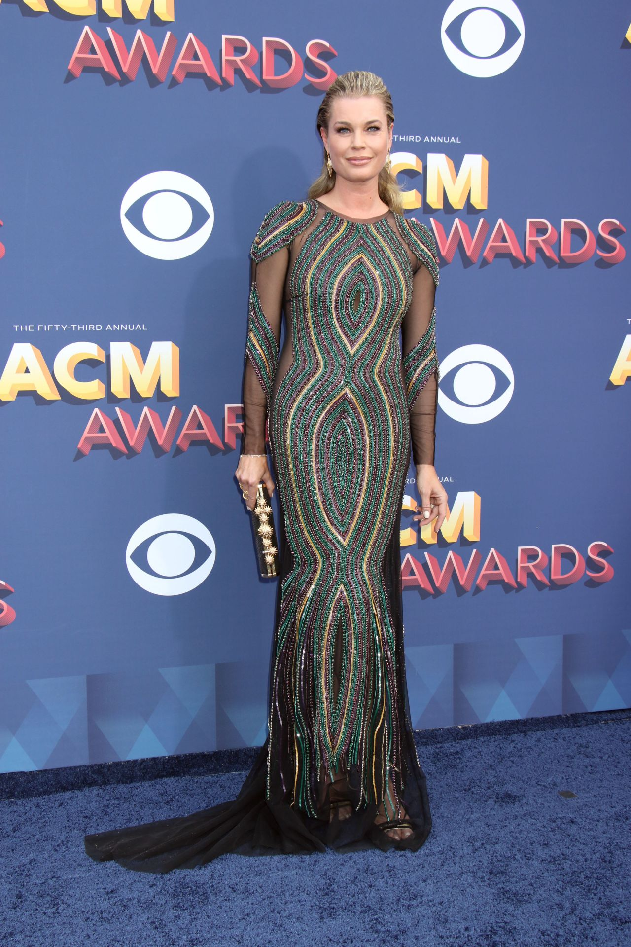 Rebecca Romijn 2018 Academy Of Country Music Awards In