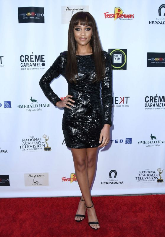 Reign Edwards – 2018 Daytime Emmy Awards Nominee Reception in Hollywood