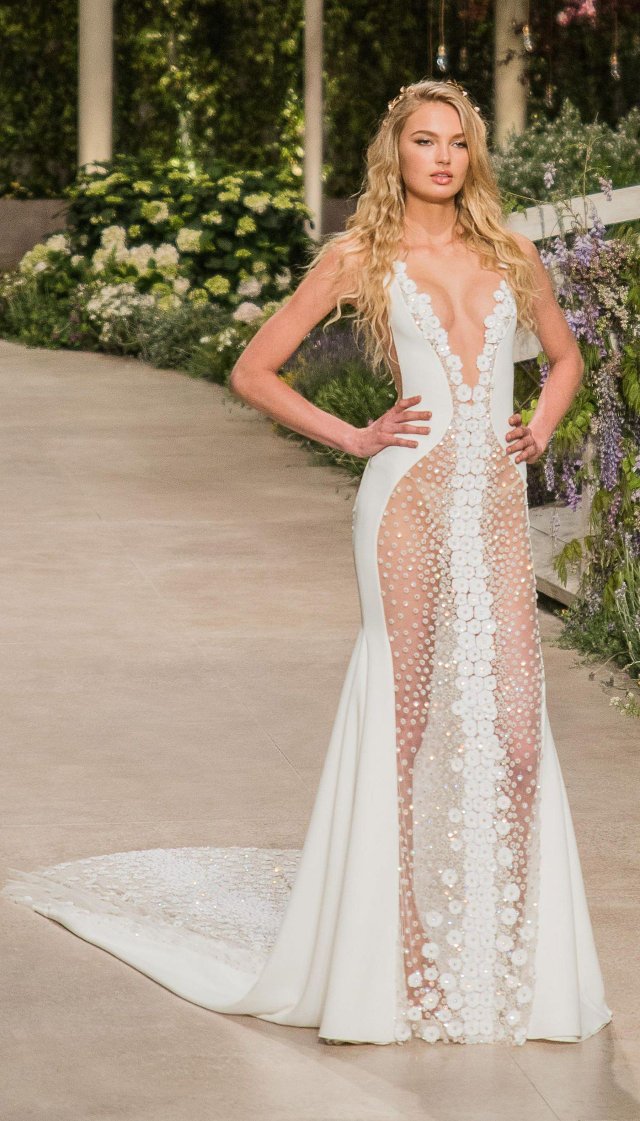 65177cec2dd Romee Strijd - Rehearsal for Atelier Pronovias 2019 Collection in Barcelona