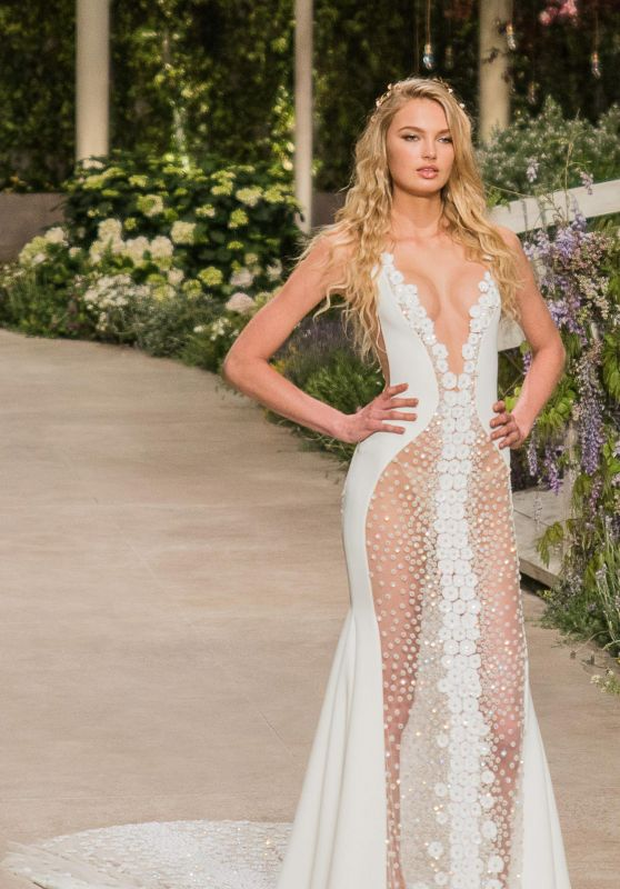Romee Strijd - Rehearsal for Atelier Pronovias 2019 Collection in Barcelona