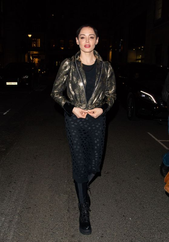Rose McGowan - Leaving Ash From Chaos Private View at Lazinc Gallery in Mayfair