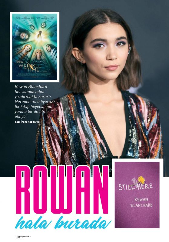 Rowan Blanchard - Hey Girl April 2018