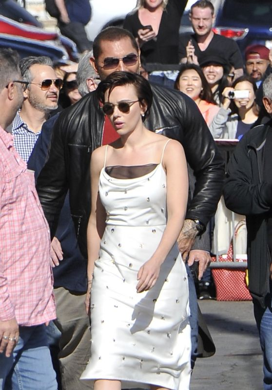 Scarlett Johansson Arriving to Appear on Jimmy Kimmel Live in LA 04/24/2018
