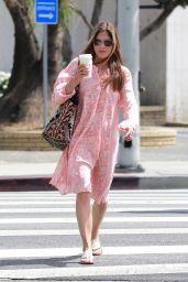 Selma Blair in Pink Dress - Studio City 04/15/2018