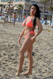 Simone Reed in Bikini on the Beach 04/15/2018