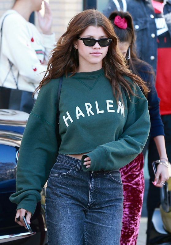 Sofia Richie Street Style - Shopping in Beverly Hills 04/12/2018