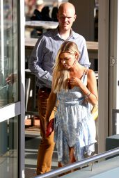 Sophie Monk in a Blue Dress in Sydney 04/16/2018