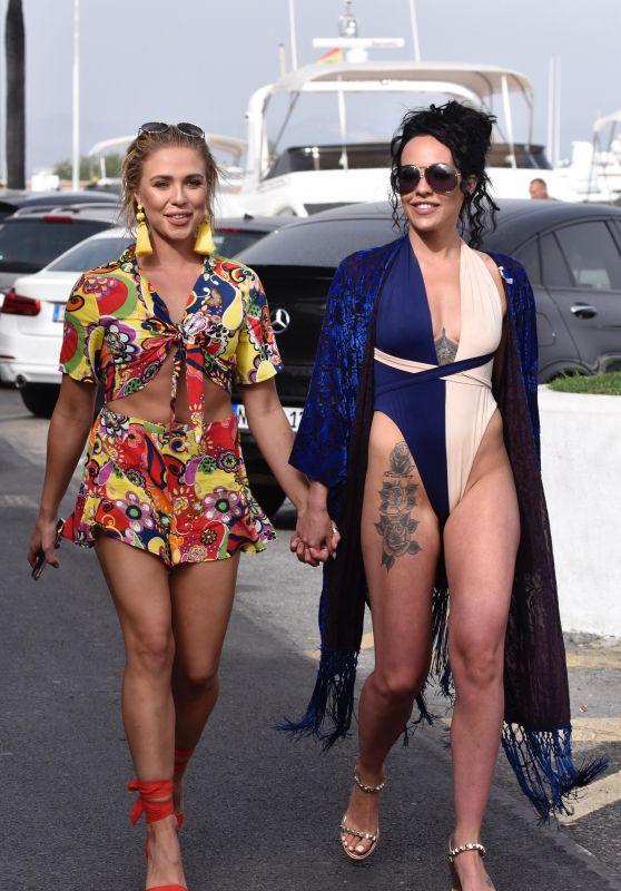 Stephanie Davis and Gabby Allen on a Yacht in Marbella 04/23/2018