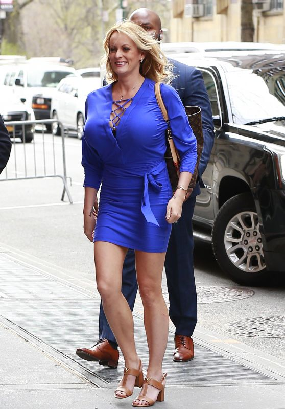 Stormy Daniels - Arriving at The View TV Show in New York City 04/17/2018