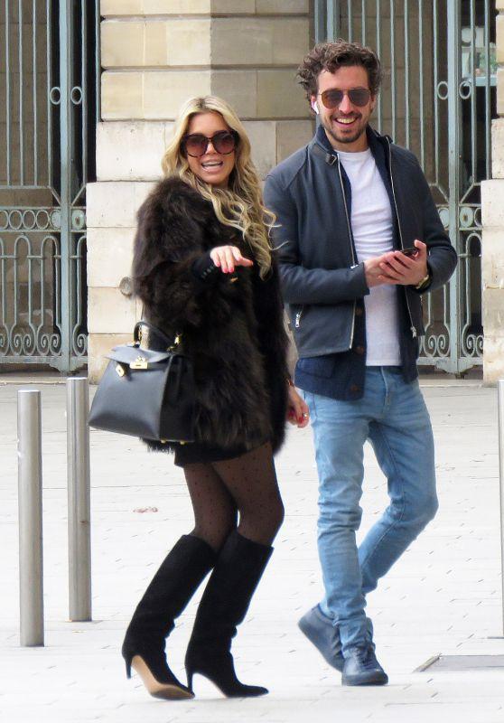 Sylvie Meis and Her Boyfriend Strolling in Paris 04/01/2018