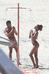 Tina Kunakey in Bikini on the Beach in Rio De Janeiro