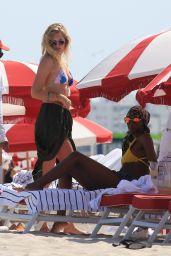 Toni Garrn Bikini Candids - Beach in Miami 04/03/2018