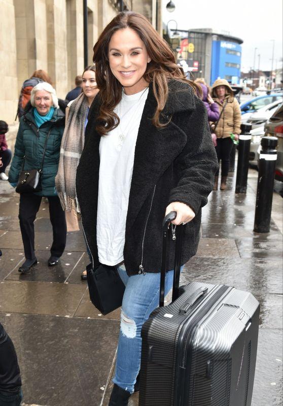 Vicky Pattison at Newcastle Train Station 03/31/2018