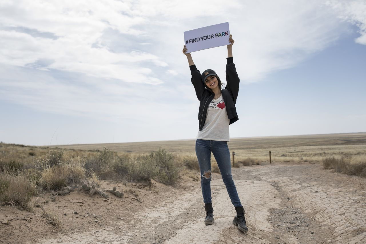 Victoria Justice at Petroglyph National Monument in