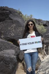 Victoria Justice at Petroglyph National Monument in Albuquerque, New Mexico 04/18/2018