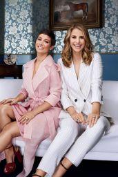 Vogue Williams and Frankie Bridge - 2018 Investec Derby Festival Ambassadors, Epsom Downs Racecourse, 04/14/2018