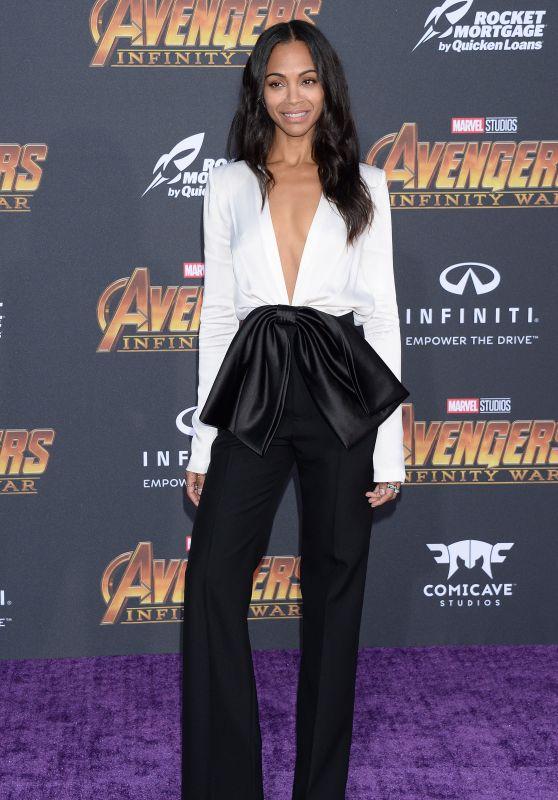 """Zoe Saldana – """"Avengers: Infinity War"""" Premiere in LA"""