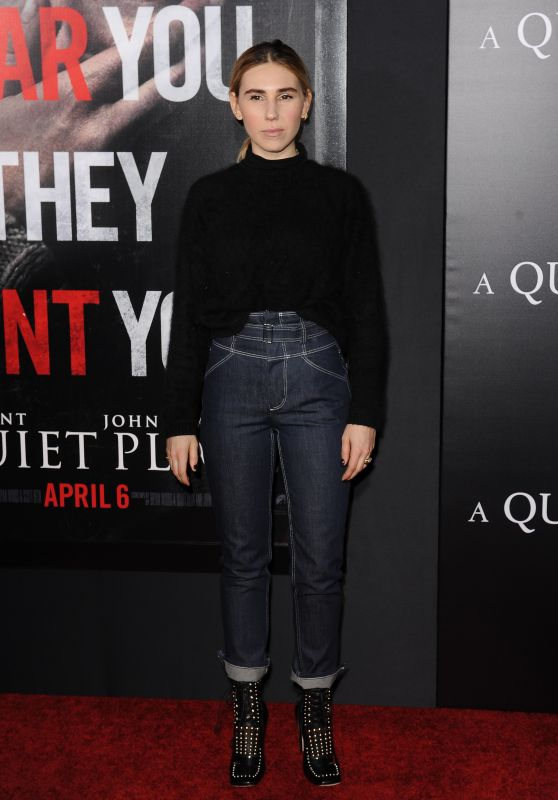 "Zosia Mamet – ""A Quiet Place"" Premiere in NYC"
