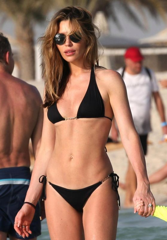 Abbey Clancy in Bikini - Le Royal Meridien Beach Resort in Dubai 05/25/2018