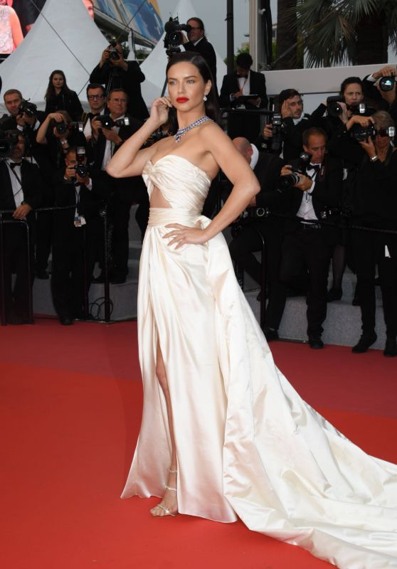 """Adriana Lima – """"Burning"""" Red Carpet in Cannes"""