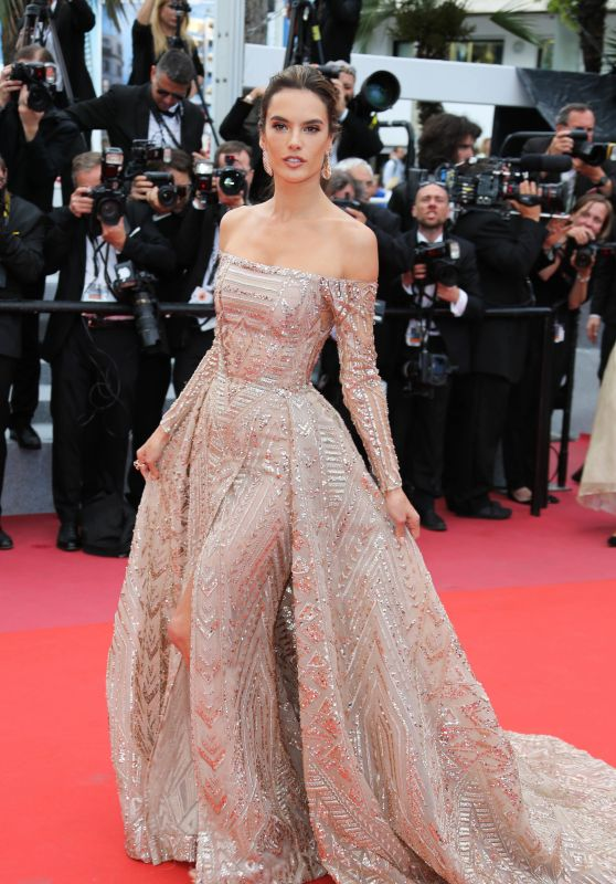 """Alessandra Ambrosio – """"The Wild Pear Tree"""" Red Carpet in Cannes 05/18/2018"""