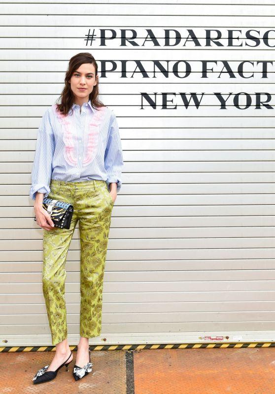 Alexa Chung – Prada Resort : 2019 Show in NYC 05/04/2018