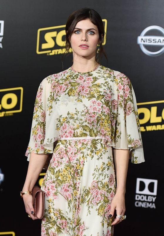 """Alexandra Daddario – """"Solo: A Star Wars Story"""" Premiere in LA"""