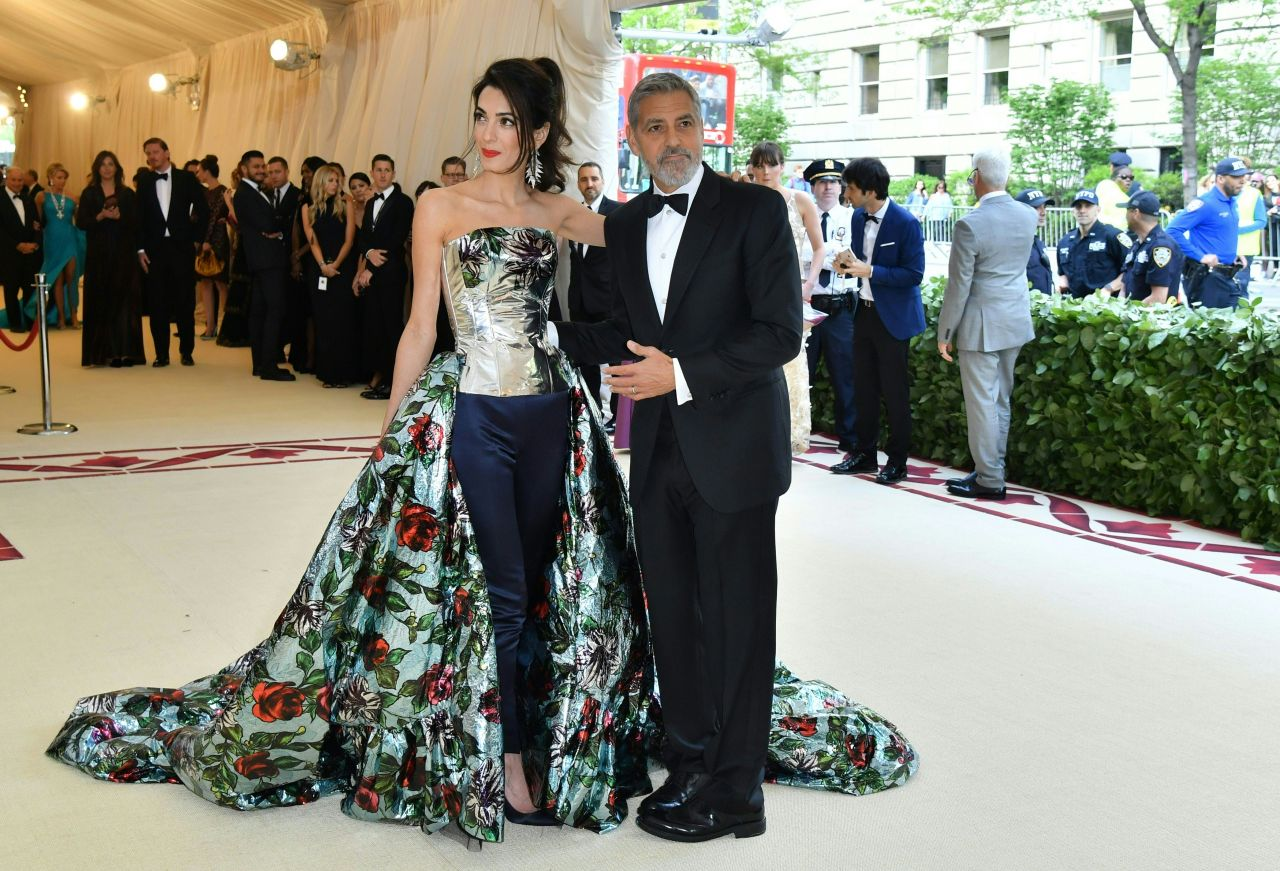 Amal Clooney and George Clooney - MET Gala 2018 • CelebMafia