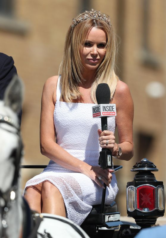 Amanda Holden - Filming For Royal Wedding in Windsor 05/14/2018