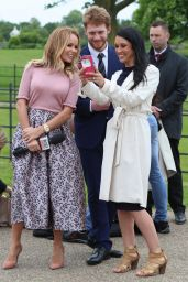 Amanda Holden - Interviewing Harry & Meghan Lookalikes For Inside Edition At Kensington Palace in London 05/16/2018