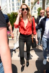 Amber Heard - Film Set in Cannes, May 2018